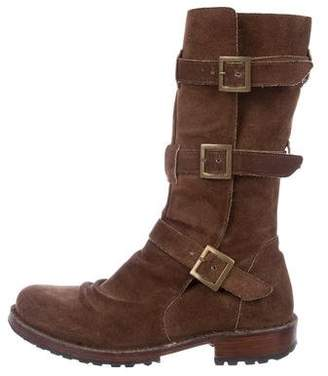 Florentini + Baker Suede Mid-Calf Boots