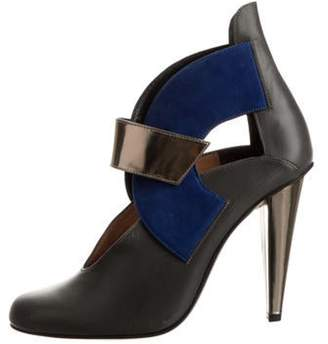 Roland Mouret Leather High-Heel Boots Grey Leather High-Heel Boots