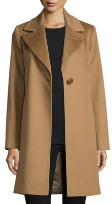 Fleurette Wool Single-Button Coat, Vicuna $1,025 thestylecure.com