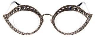 Gucci 2017 Embellished Cat-Eye Sunglasses