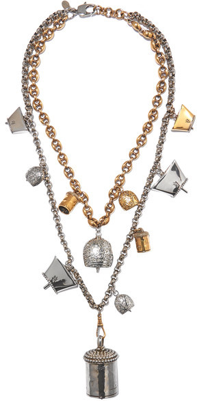 Alexander McQueen Alexander McQueen - Silver And Gold-tone Necklace - one size