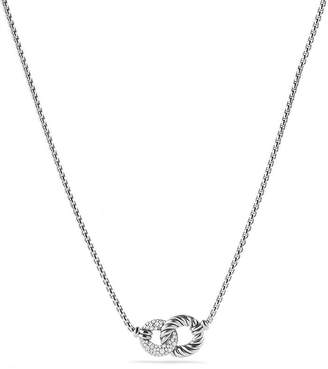 David Yurman Belmont Double Link Necklace with Diamonds