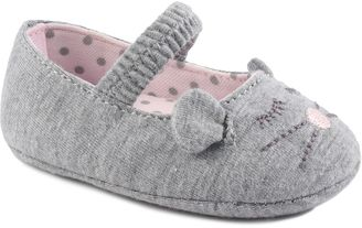 Baby Girl Wee Kids Mouse Slip-On Crib Shoes $15 thestylecure.com