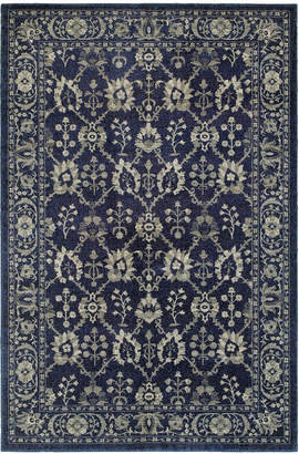 "Richmond Oriental Weavers Fortune Navy/Grey 1'10"" x 3' Area Rug"