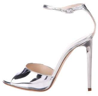 Chloé Gosselin Metallic Ankle-Strap Sandals