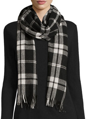 Eileen Fisher Soft Wool/Cashmere Plaid Scarf $158 thestylecure.com