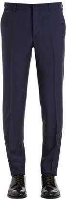 Prada 17cm Slim Fit Virgin Wool & Mohair Pants