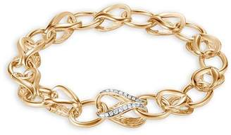 John Hardy 18K Yellow Gold Classic Chain Pavé Diamond Link Bracelet, 10mm