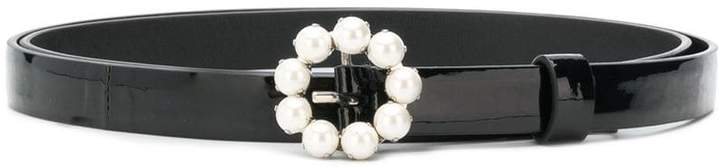 Miu Miu faux pearl buckle belt