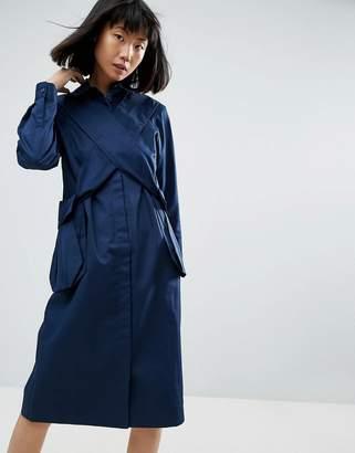 Asos 3D Pocket Cross Over Shirt Dress