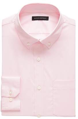 Banana Republic NEW Slim-Fit Tech-Stretch Cotton Solid Shirt