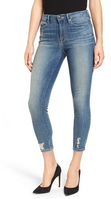 Women's Good American Good Legs High Rise Crop Skinny Jeans $169 thestylecure.com