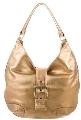 MICHAEL Michael Kors Metallic Leather Hobo