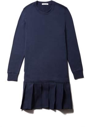 Lacoste Women's Pleated Fleece Sweatshirt Dress