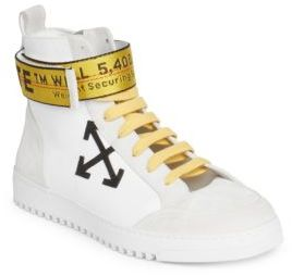 Off-White Arrow High-Top Sneakers $550 thestylecure.com
