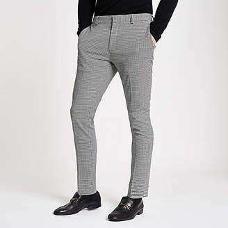 River Island Olly Murs black check super skinny pants