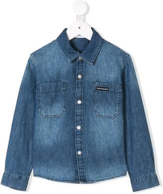 Calvin Klein Kids long sleeve denim shirt