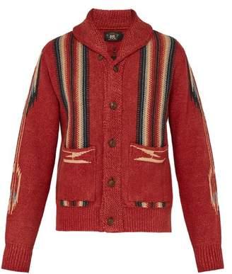 Rrl - Shawl Collar Cotton Blend Cardigan - Mens - Red Multi