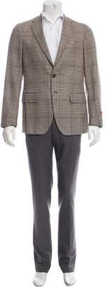 Isaia Glen Check Cashmere Sport Coat w/ Tags