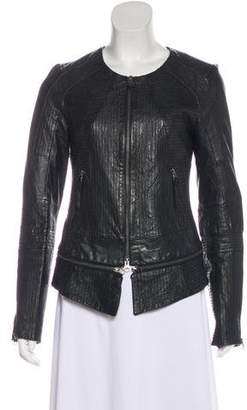 Improvd Fitted Leather Jacket