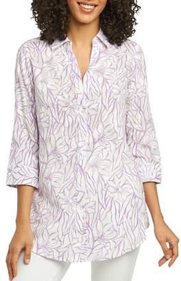 Foxcroft Faith Floral Jacquard Tunic Shirt