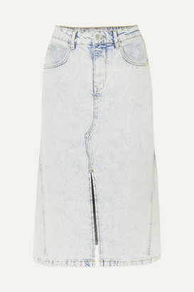 Maje Denim Midi Skirt - Light denim