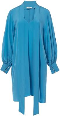 Tibi Arielle Silk Tie Front Dress