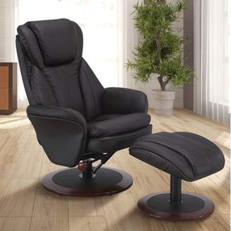 M·A·C Comfort Chair by Mac Motion Norway Recliner and Ottoman in Java Leather