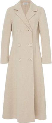 Mansur Gavriel Double-Breasted Melange Wool-Blend Coat