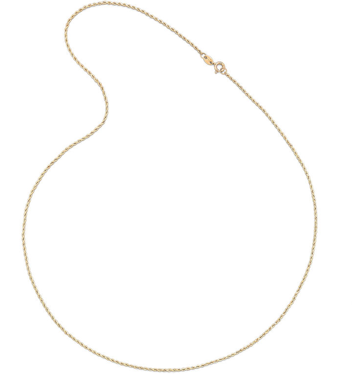 JCPenney FINE JEWELRY 14K Yellow Gold 1.35mm Hollow Rope Chain Necklace