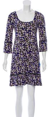 Diane von Furstenberg Silk Abstract Print Dress