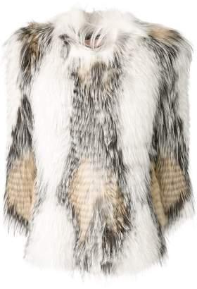 Yves Salomon fur midi coat