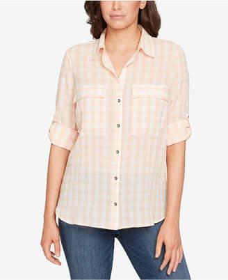 William Rast Dalila Plaid Cotton Shirt