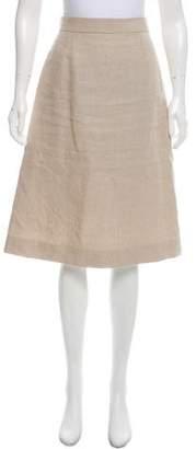 Black Fleece A-Line Knee-Length Skirt