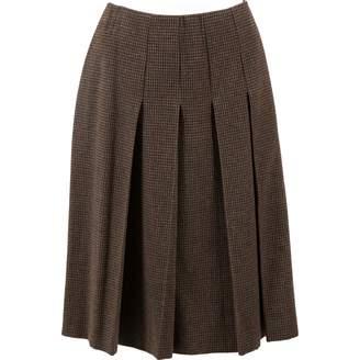 Miu Miu Brown Wool Skirts