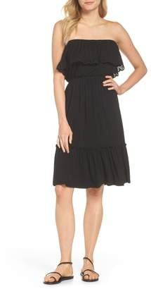 Felicity & Coco Strapless Ruffle Blouson Jersey Dress