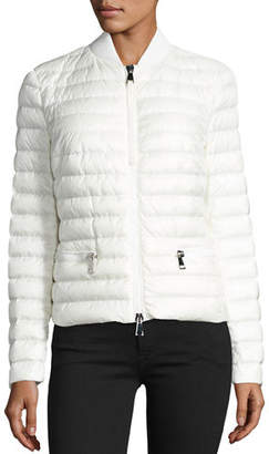 Moncler Blen Fitted Down Jacket $995 thestylecure.com