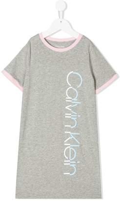 Calvin Klein Kids branded T-shirt dress