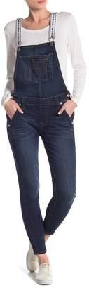 True Religion Logo Strap Skinny Overalls
