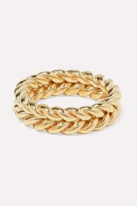 Laura Lombardi Net Sustain Grana Gold-tone Ring