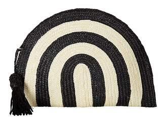 San Diego Hat Company BSB1723 Wheatstraw Clutch Stripe with Tassel Clutch Handbags