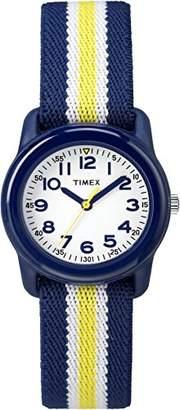 Timex Boys TW7C05800 Time Machines Analog Resin Elastic Fabric Strap Watch