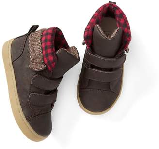 Gap Plaid leather mid-top sneakers