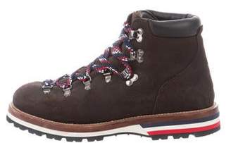 Moncler Suede Lace-Up Hiking Boots