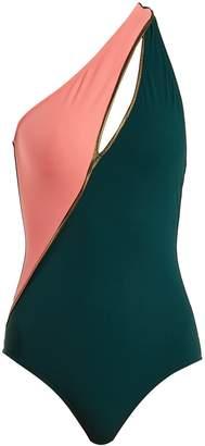 Calypso ZEUS + DIONE one-shoulder contrast swimsuit