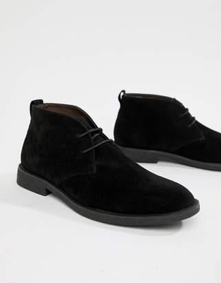 New Look faux suede desert shoe in black