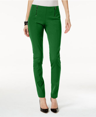 Alfani Double-Zip Skinny Pants, Only at Macy's $69.50 thestylecure.com