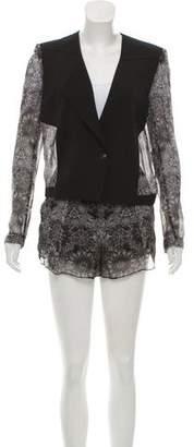 Helmut Lang Printed Shorts Suit