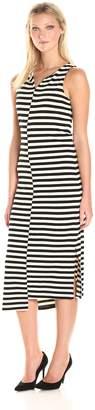 Kensie Women's Soft Striped Ponte Dress