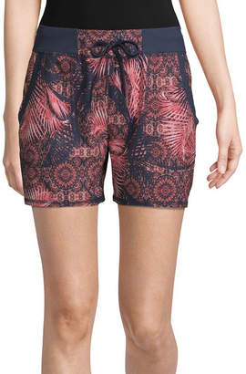 ST. JOHN'S BAY SJB ACTIVE Active Womens Mid Rise Drawstring Waist Pull-On Short